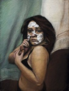 Felicia Diaz - Monotony: Self-Portraitpastel on mat board35 x 28 inches