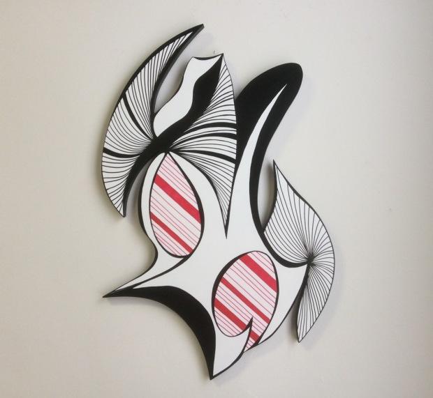 Dark Heart; acrylic on wood; 32