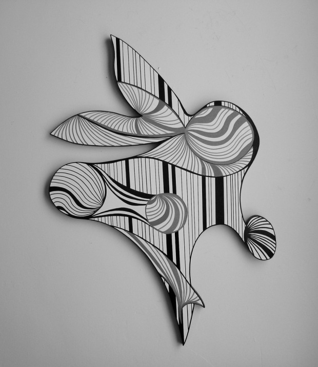 Delight; acrylic on wood; 34