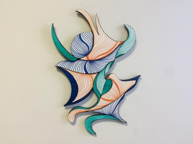 Prance; acrylic on wood; 28