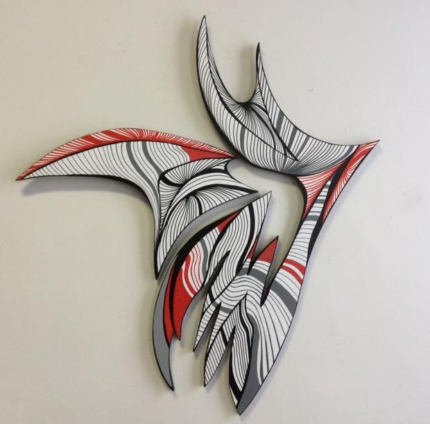 Tango; acrylic on wood; 41