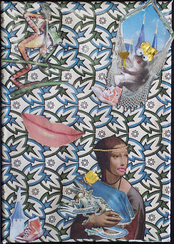 Frog Prince; collage; 7
