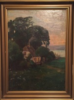 """Cottage Among the Trees (1909)""; Oil on canvas; 20.5 x 14.5 in. unframed"