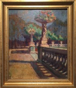 """Paris (1924)""; Oil on board; 10 x 8.5 in. unframed"
