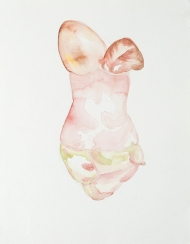 "Meghan Bean; Form; Watercolor on Paper; 12' x 9""; Starting Bid $150.00"
