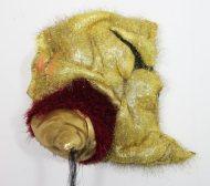 "Bobbi Meier; All that Glitters; Fiber and Canvas; 16"" x 8"" x 8""; Starting Bid $300.00"