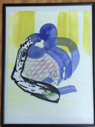 "Diane Christiansen; Untitled; Gouche, Ink and Collage on Paper; 14.5"" x 11""; Starting Bid $150.00"
