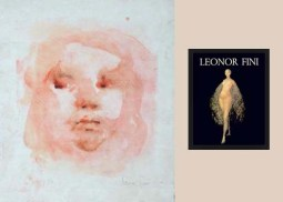 """Leonor Fin; Visage Rose; Color Lithograph on Paper 12 3/4"""" x 16"""" (25 1/8"""" x 28 1/4"""" Framed) Signed by the Artist (Includes book about artist, written in French); Starting Bid $275.00"""