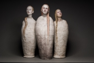 "Robin Power; The Three Mary's; Ceramic Sculpture; 20"" x 20""; Starting Bid $2400.00 ($1,600 ea.)"